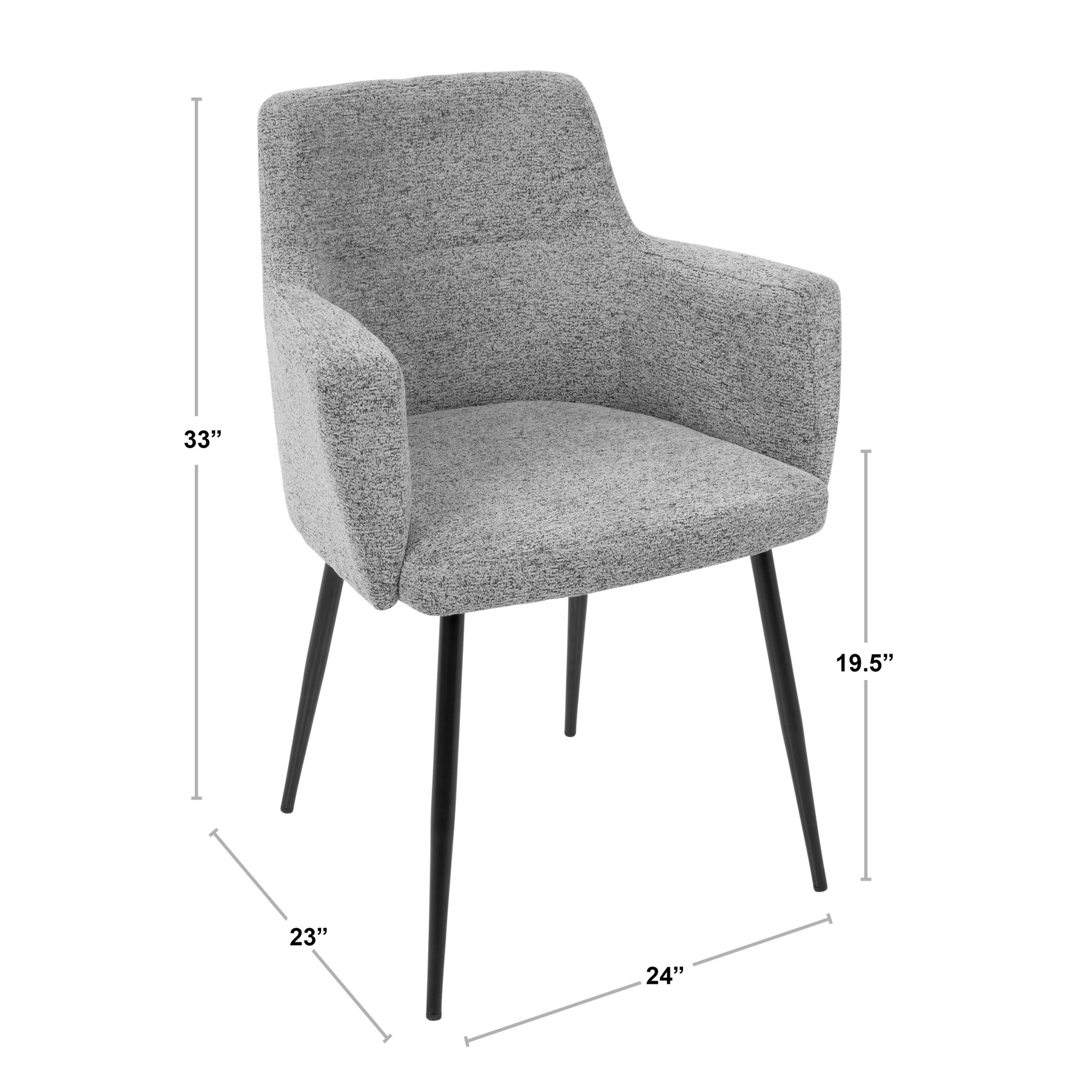 Andrew Chair Set Of 2 Lumisource Stylish Decor At Affordable Prices