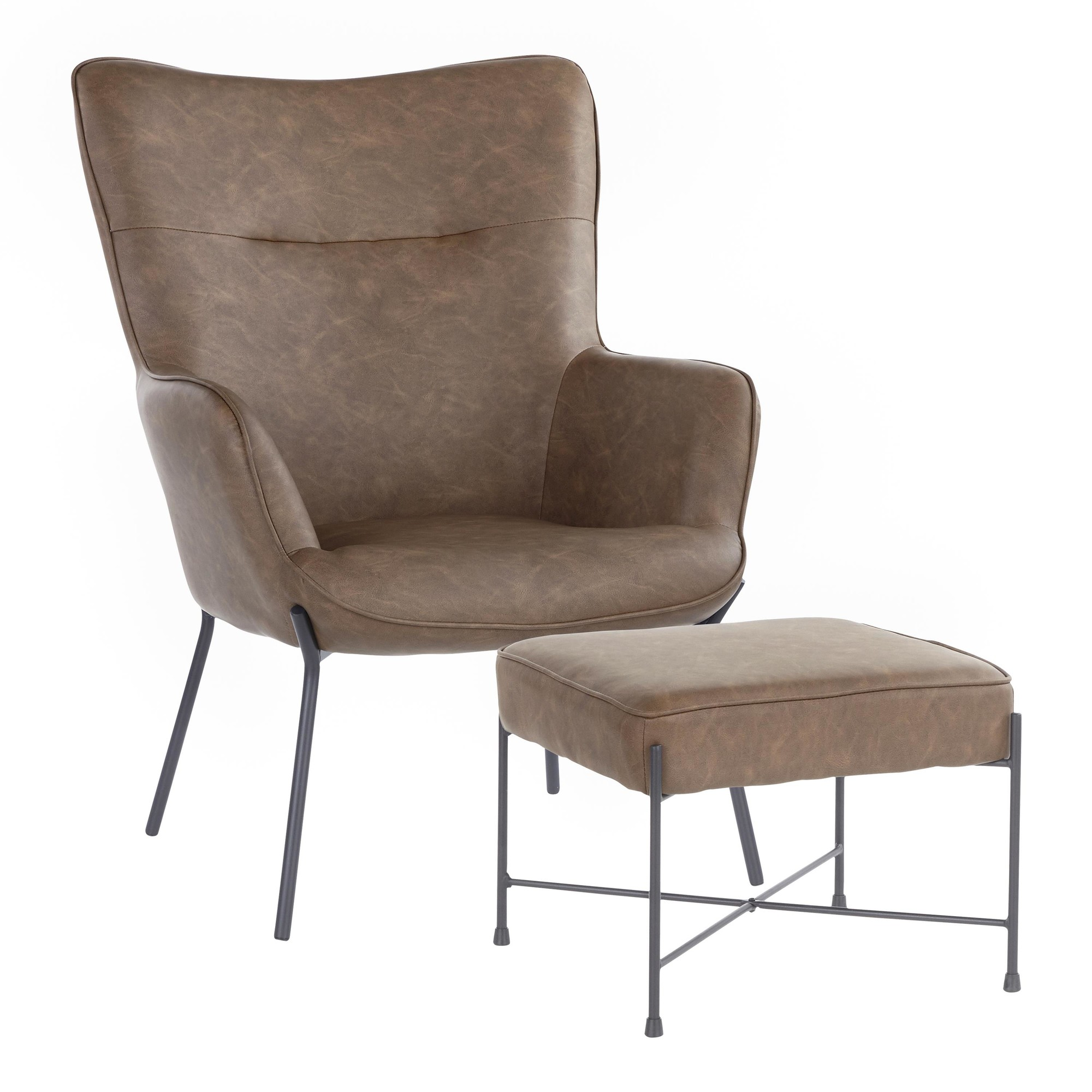 Izzy Lounge Chair Ottoman Set